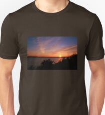 Sunset Over The Harbour Unisex T-Shirt