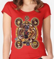 Kingdom Hearts Sora stained glass Women's Fitted Scoop T-Shirt