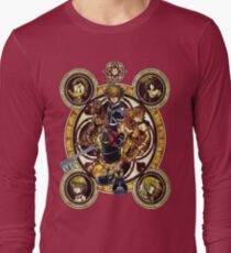 Kingdom Hearts Sora stained glass Long Sleeve T-Shirt