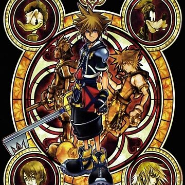 Kingdom Hearts Sora stained glass by legendofsarah