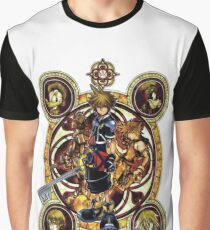 Kingdom Hearts Sora stained glass Graphic T-Shirt