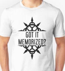 Got It Memorized? - Black T-Shirt