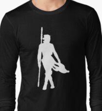 Rey Silhoutte (White) Long Sleeve T-Shirt