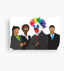 Peculiar People Day - Clown Canvas Print