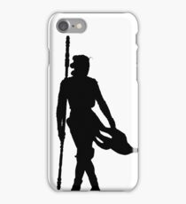 Rey Silhoutte (Black) iPhone Case/Skin
