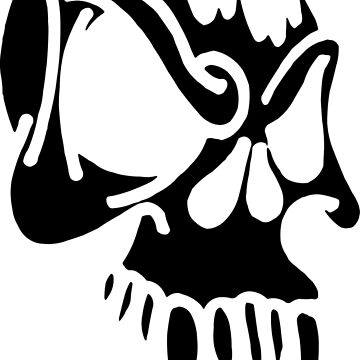 Wicked skull with fangs by artpolitic