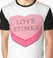 LOVE STINKS Fun Anti Valentine Graphic T-Shirt