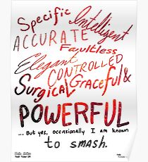 I Am Known to Smash Poster