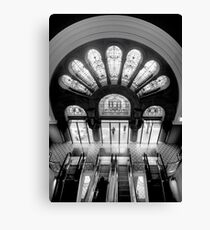 Staircase Addiction (Monochrome) - QVB , Sydney Australia - The HDR Experience Canvas Print