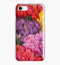 Colorful tulips iPhone Case/Skin
