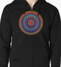 Fire and Ice Mandala Zipped Hoodie