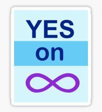 Yes on Infinity Sticker