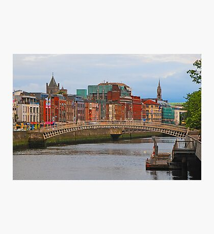 Dublin On The River Liffey Photographic Print