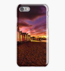 Brighton Beach Bathing Boxes iPhone Case/Skin