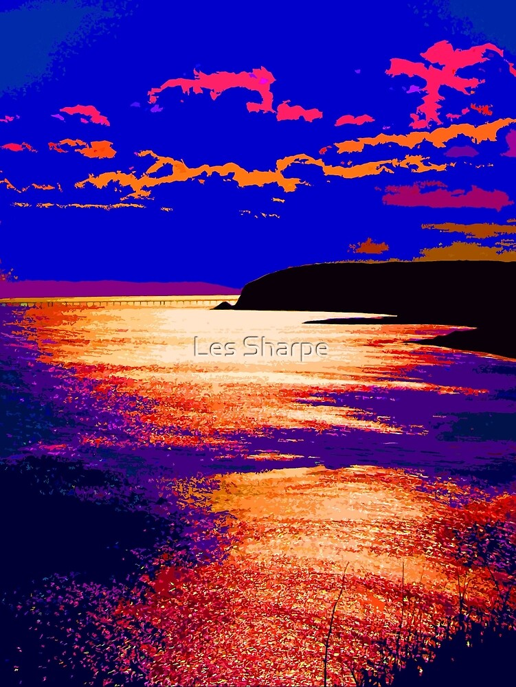 Whitehead Sunset by Les Sharpe