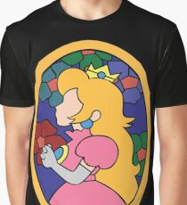 Camiseta gráfica Princesa Peach Stained Glass