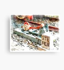 Railway signals Canvas Print