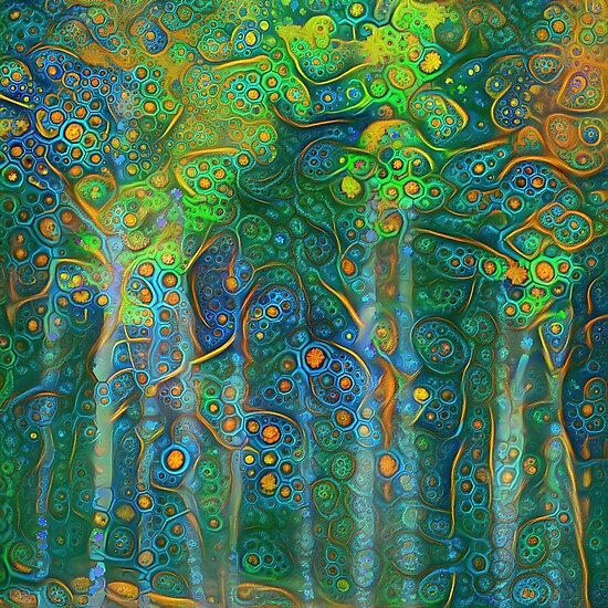 Forest abstract digital painting