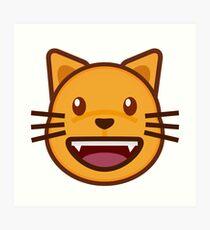 Cat emoji- Happy cute cat emoji Art Print  sc 1 st  Redbubble & Cute Cat Emoji: Wall Art | Redbubble
