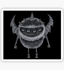 Four-Eyed, Five-Horned, Two-Winged Monster Sticker