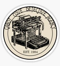 Cabot Cove Detective Agency Sticker