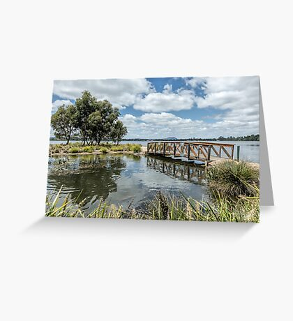 Lake Wendouree, Victoria, Australia Greeting Card