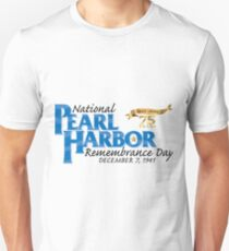 Pearl Harbor Remembrance Day 75th Anniversary Logo Unisex T-Shirt