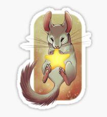 Holiday Chinchilla Sticker