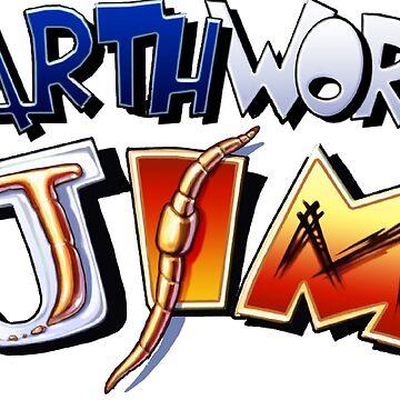 Earthworm Jim Logo by nasty138