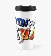 Earthworm Jim Logo Travel Mug