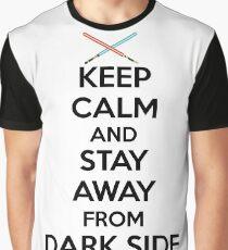 Keep Calm Dark Side Graphic T-Shirt