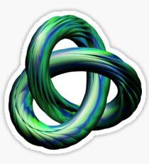 Green-Blue Torus Knot Sticker