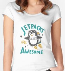 Jetpacks are Awesome Women's Fitted Scoop T-Shirt
