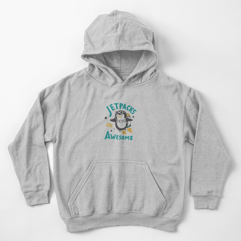 Jetpacks are Awesome Kids Pullover Hoodie