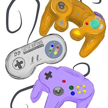 Nintendo Controller Evolution by UnicornCavities