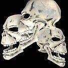 Three Skull T_shirt by Walter Colvin