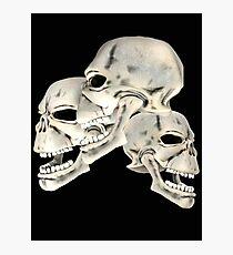 Three Skull T_shirt Photographic Print