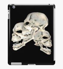 Three Skull T_shirt iPad Case/Skin