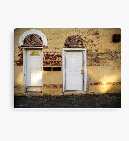 Two Doors - Corinth Canvas Print