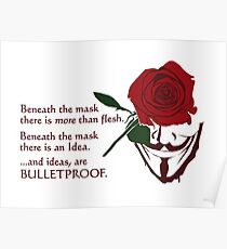 Quotes and quips - ideas are bulletproof Poster