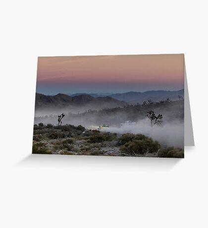 Desert Rally Sunset Greeting Card