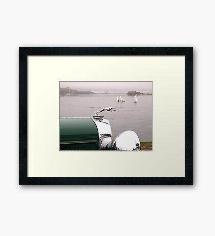 1930's Lincoln Greyhound Hood Ornament Framed Print