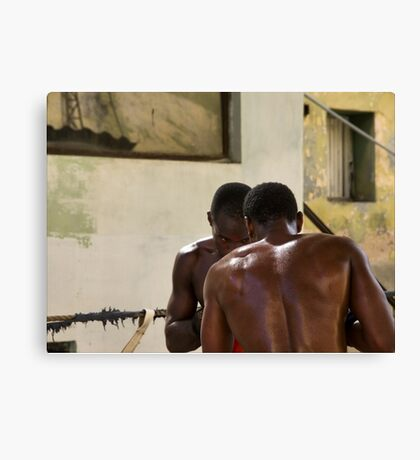 Sparring, Havana Canvas Print
