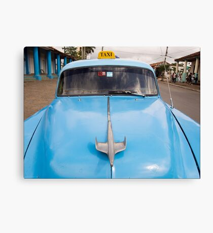 Blue Taxi - Vinales Canvas Print