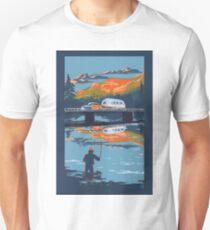Retro Airstream travel poster Unisex T-Shirt