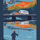 Retro Airstream travel poster by SFDesignstudio