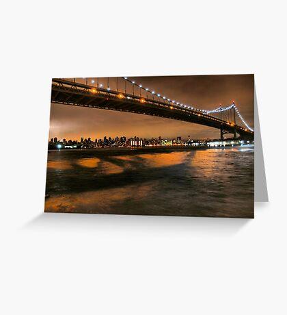 The Lights of the Triborough Bridge Greeting Card