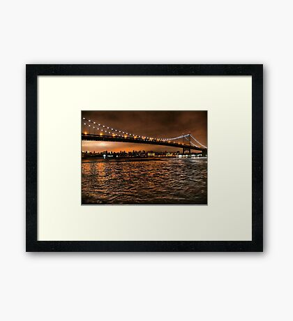 The Triborough and the Skyline Framed Print