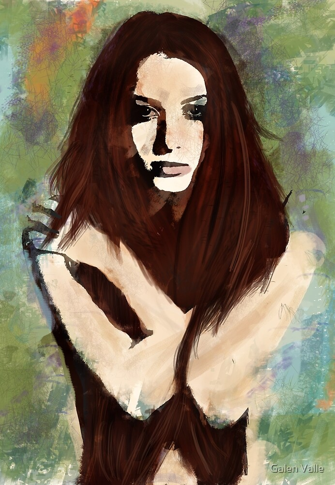 Tristesse - Digital Impressionist Painting by Galen Valle