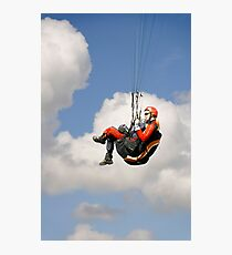 Paraglider Close-up, Above Mam Tor  Photographic Print